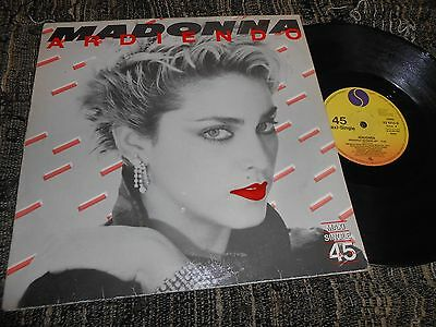 "MADONNA Ardiendo/Physical Attraction 12"" MX 1983 SPAIN mega RARE SPANISH edition"