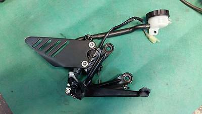 platine repose pied droit maitre cyllindre kawasaki zx6r 2009 2010 2011 2012