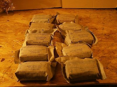 Lot x 10 Trauma Wound Dressing Army Bandage First Aid Kit Military USSR 70s-80s