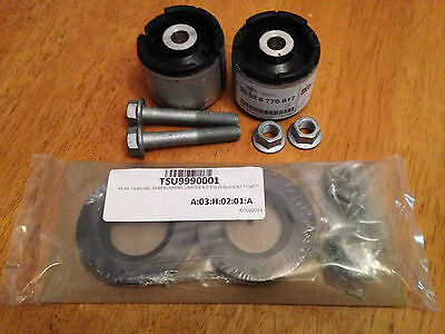 Turner Rear Trailing arm Bush Limiter kit & OEM RTAB's bolts: E46 & E36 M3 Z4 X3