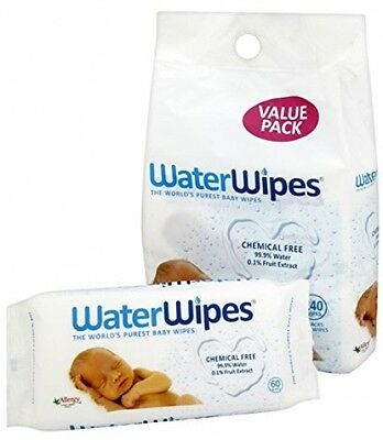 WaterWipes Chemical Free Baby Wipes, Natural and Sensitive, 4 x 60 240 Wipes