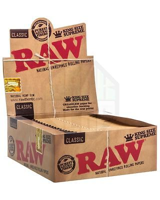 4 Packs x RAW Classic King Size SUPREME Rolling Papers