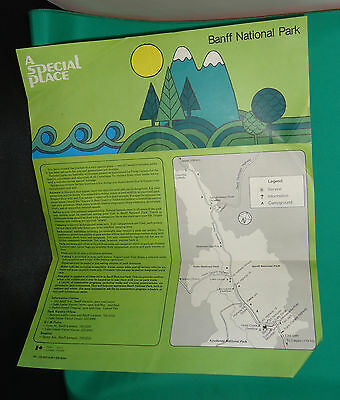 Banff National Park Brochure French/English Small Map of Park