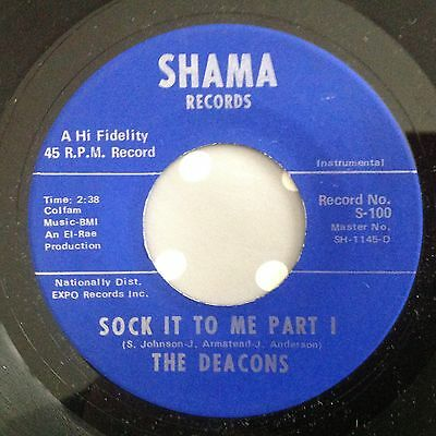 Deacons-Sock It To Me Parts 1&2-Shama S100. Vg++