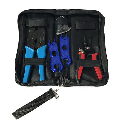 Solar PV Installation Tool Kit MC4 Crimper Cutter Stripper MC4 Connector/Spanner
