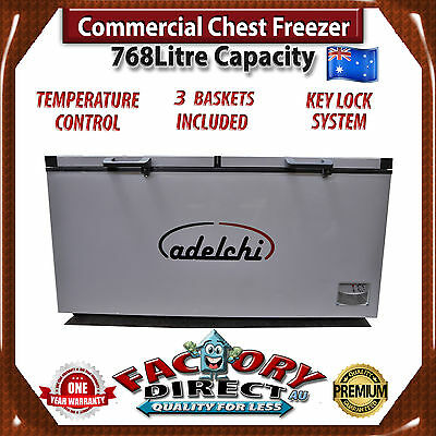ADELCHI 768 Litre High Commercial Grade CHEST FREEZER Food Storage RRP $1699.00