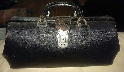 Early 1900S Leather Dr.'s Travel Bag