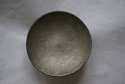Japanese white metal sake cup to the 63rd Infantry Regiment
