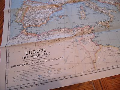 1940 Map Europe & the Near East National Geographic Maps