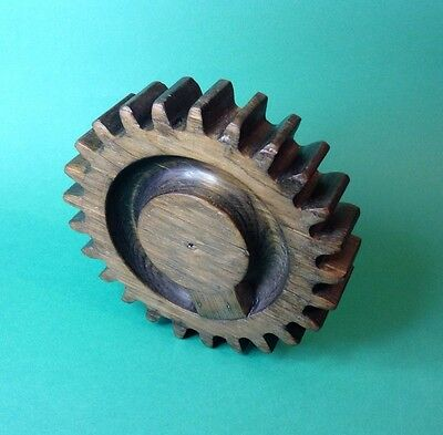 Vintage Foundry Mould Wooden Cog Gear Industrial Pattern Mold