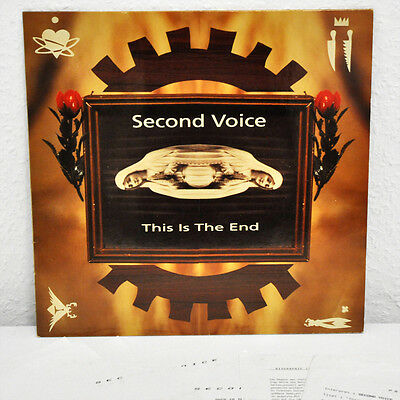 """Second Voice - This Is The End, PROMO 12"""" Vinyl Maxi + Sheets - NEU/MINT - RARE"""