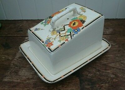 Vintage Royal Winton Grimwades Cheese/Butter Dish Art Deco