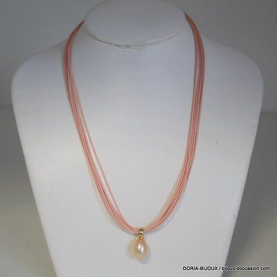Collier Or 18k 750/000 Perles 3.6grs - Bijoux occasion