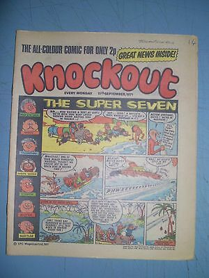 Knockout issue dated September 11 1971