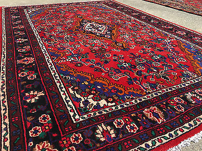 7x10 HAND KNOTTED WOVEN RUG PERSIAN MADE IRAN WOOL AREA 7 x 10 rugs black 6 9 8