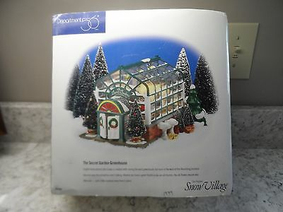 Dept 56 Snow Village® THE SECRET GARDEN GREENHOUSE #54949