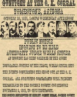 Ok Corral~(I Combine Shipping)~Old West,wanted,poster,tombstone,earp,holliday
