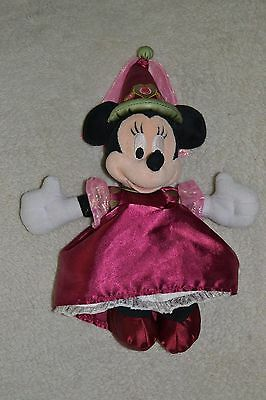 Disney Minnie Mouse Princess Plush Toy with badge on foot
