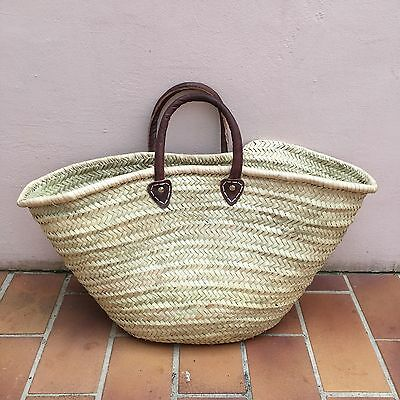 Market French Basket wicker provence leather handle 2