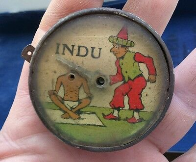 Vintage 1930's INDU Tin Plate illusion / magic trick Toy by Lehmann