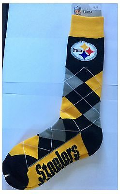 Pittsburgh Steelers NFL Logo Diamond Check Design Socks