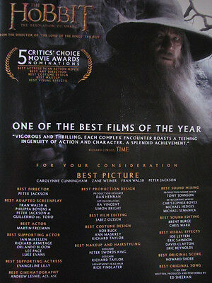 Hobbit Desolation of Smaug Gandalf Ian McKellen Oscar Ad