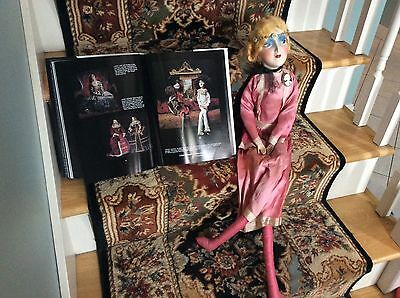 """Vintage Rare BIG HEAD Boudoir Bed Doll W Gorgeous Face 34"""" Great Outfit"""