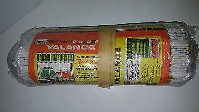 Mid Century Mod Vintage Plastic Vinyl Reed Cafe Panel Valance Multi color