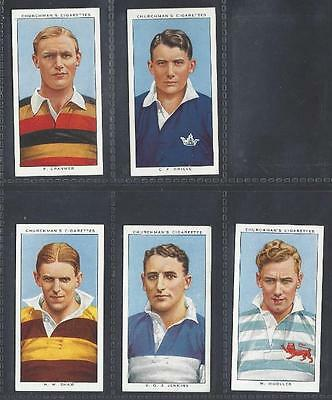 Churchman - Rugby Internationals - 5 Cards