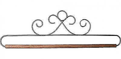 FRENCH CURLS GRAY 12 INCH QUILT HANGER WITH DOWEL From Ackfeld Manufacturing NEW