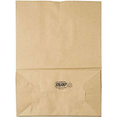 General Brown 1/6 75 Kraft Paper Bags, 12 x 7 x 17, 400 count New Free Shipping