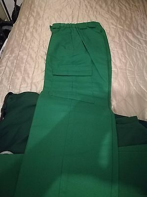 NEW Mens Combat Cargo lined Work Trousers Size 30s green