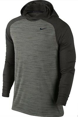 New Men's Nike Touch Long Sleeve Dri-Fit Training Hoodie 696063 037 Medium NWT