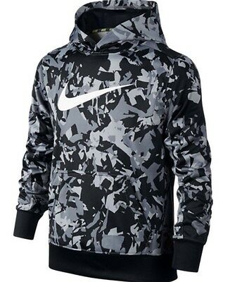 New Boy's Nike Therma-Fit KO All Over  PullOver Hoodie 678678 010 XLarge NWT