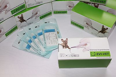 surgical sutures veterinary suture PDO, PGLA, PGA many sizes best Q, VET sutures