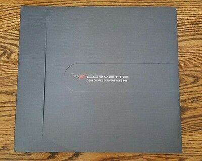 Promo Corvette 2008 Deluxe Dealer Sales Catalog Brochure
