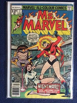 Ms. Marvel # 7 Marvel Comics 1977 FN