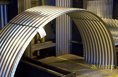 Brand New, Galvanised Steel, Corrugated, Curved Roofing Sheets / Pig Arks.