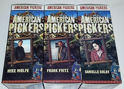 American Pickers Bobbleheads Set of 3 Mike Wolfe Frank Fritz Danielle Colby NEW