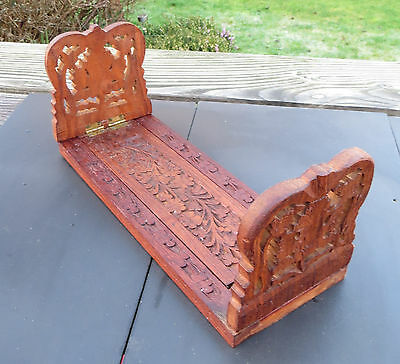 Vintage Hand Carved Folding Book Slide