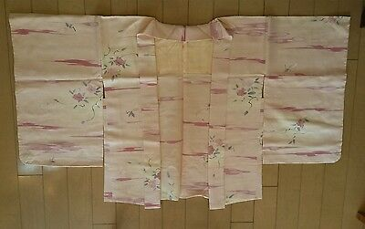 Authentic Vintage Japanese Kimono Haori Jacket 100 % silk NOS