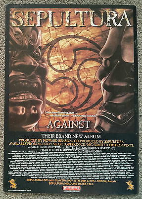 SEPULTURA - AGAINST 1998 full page UK magazine ad