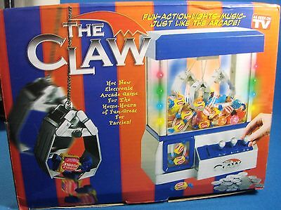 NEW The Claw Crane Bank Arcade Fun Toy for Home Lights Sound Game Room Blue