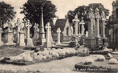 Glasnevin Cemetery Dublin Showing The Ira & Fenian Plots Ireland Irish Postcard