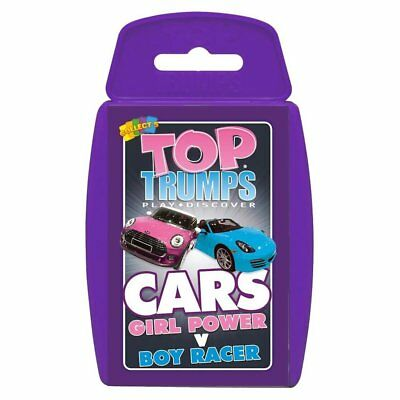 Car Top Trumps Family Card Game New Sealed - Girl Power v Boy Racer Cars