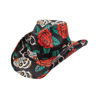New Peter Grimm Black Tainted Love Western Cowboy Hat