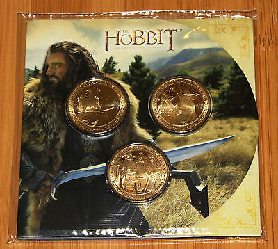The Hobbit: An Unexpected Journey. Brilliant, Uncirculated 3 Coin Set.