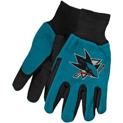 NHL San Jose Sharks Utility Gloves Two Toned Work or Winter Team Colors