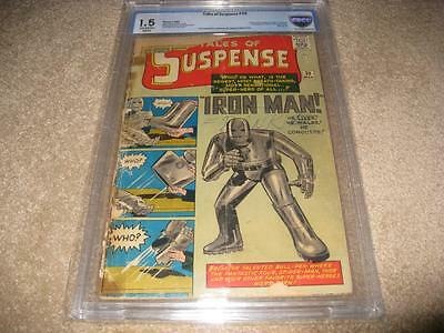 Tales Of Suspense #39 Cbcs Universal 1.5   1St App. Of Iron Man  Holy Grail