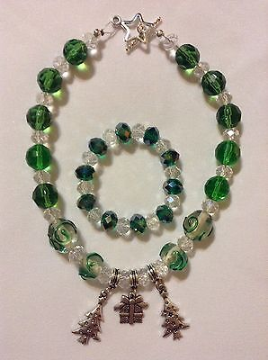 Infant/toddler Christmas Jewelry Fits Average Sz 9-24 Months Glass Beads